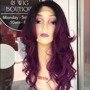 Accessories - Purple ombré wig Lacefront Swisslace New 2019 wig
